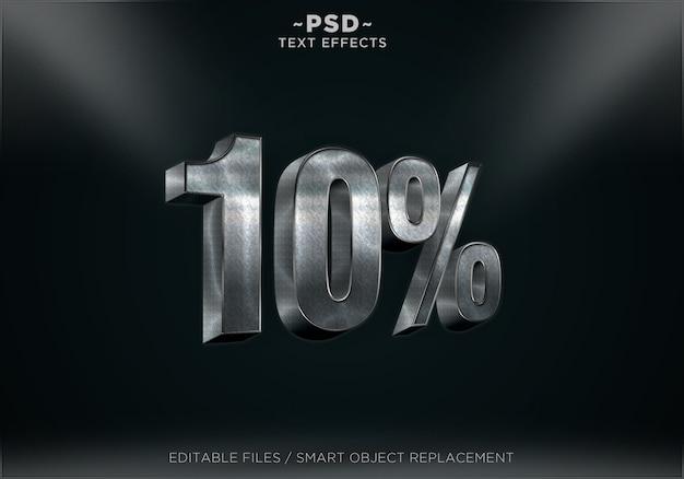 Bewerkbare teksteffecten in 3d-kortingsstijl Premium Psd