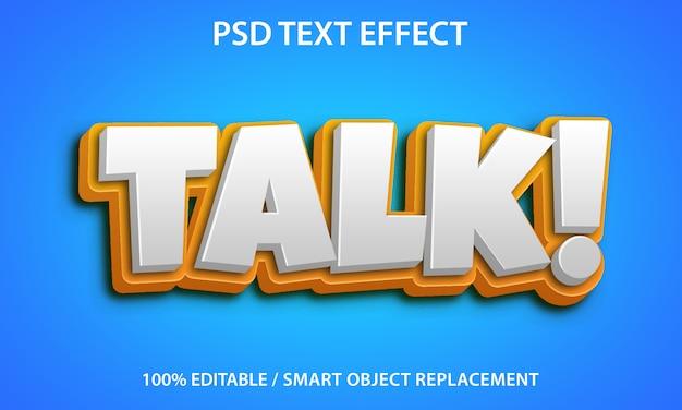 Bewerkbare teksteffectpraat Premium Psd