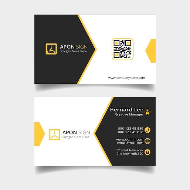 Bezoek kaartsjabloon Premium Psd