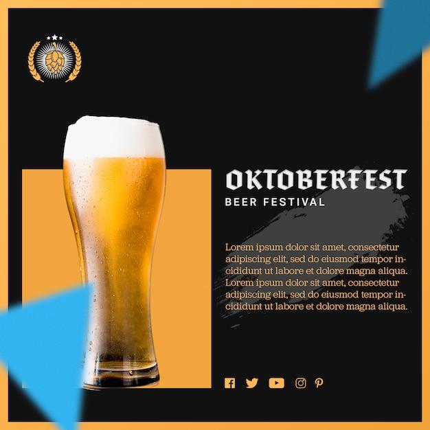Bicchiere da birra con schiuma per l'oktoberfest Psd Gratuite