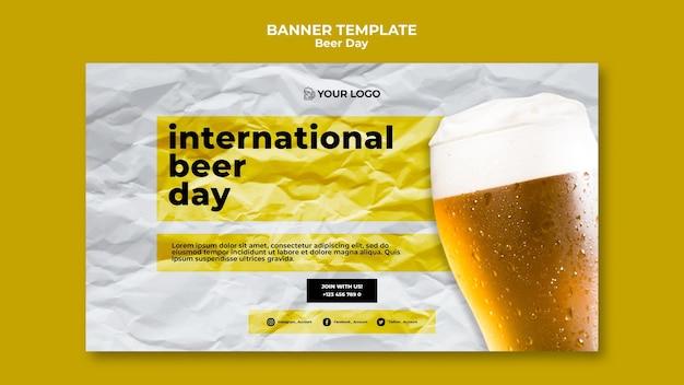 Bier dag banner sjabloon concept Gratis Psd
