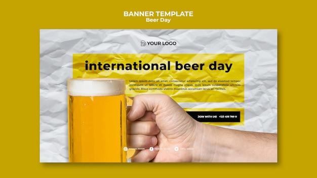 Bier dag banner sjabloonstijl Gratis Psd