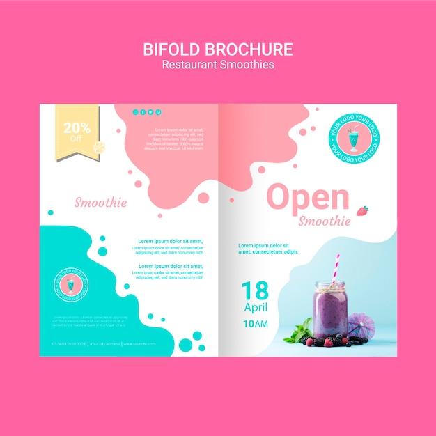 Bifold smoothie brochures sjabloon Gratis Psd