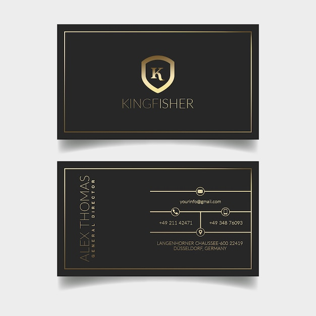 Biglietto da visita di lusso Psd Premium