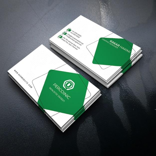 Biglietto da visita verde Psd Premium