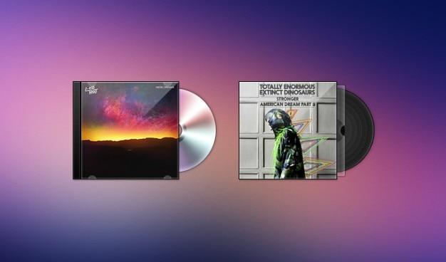 Bij cd hoesjes freebie psd vinyl Gratis Psd