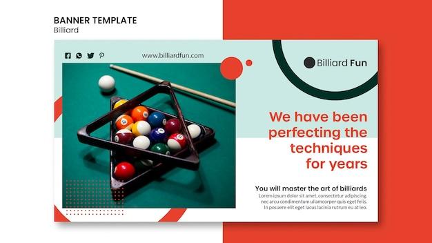 Biljart concept banner mock-up Gratis Psd