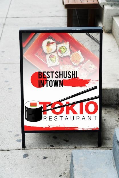 Billboard in de stad mock-up Gratis Psd