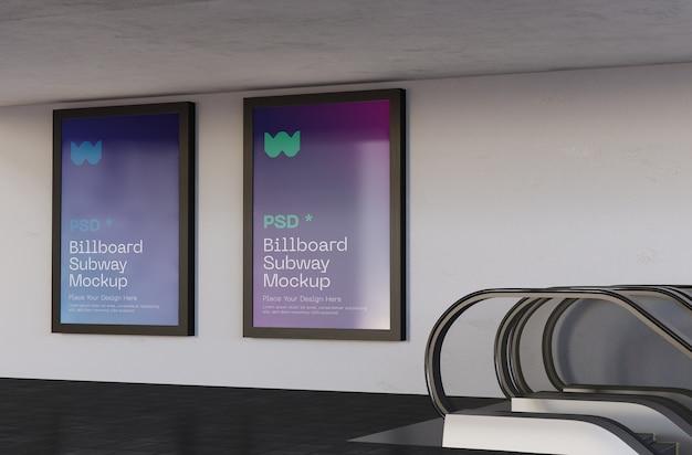 Billboard metro mockup set Premium Psd