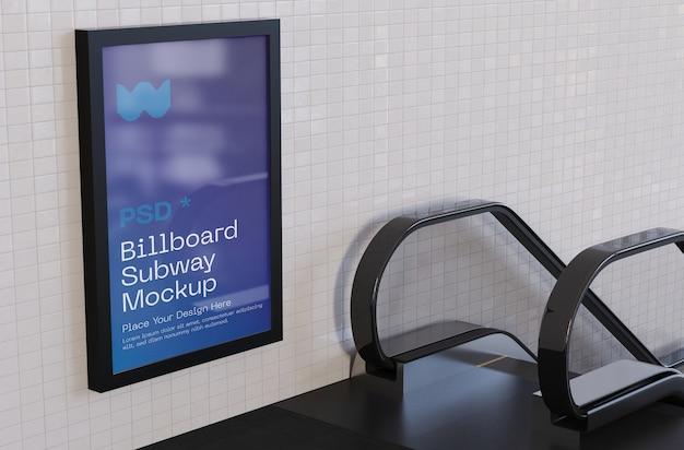 Billboard metro mockup Premium Psd