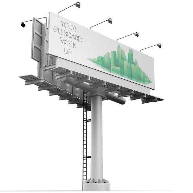 Billboard mock up design Gratis Psd