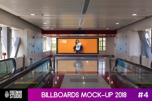 Billboard mock-up Psd Premium