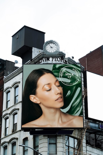 Billboard teken concept mock-up Gratis Psd