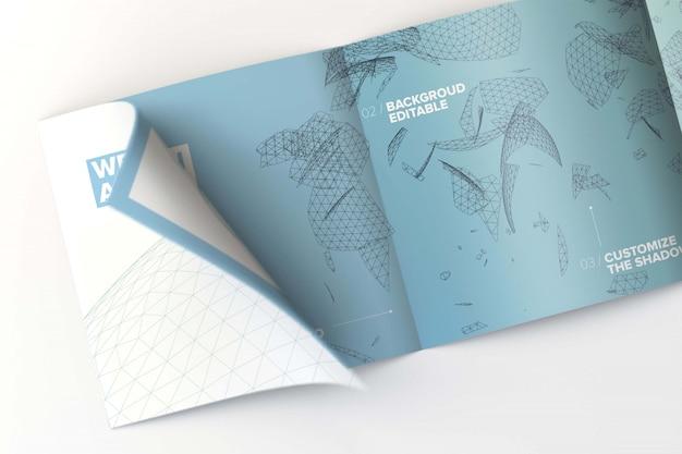 Binnen vierkant viervoudig brochuremodel Premium Psd