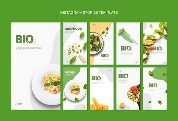 Bio voedsel instagram verhalen sjabloon Gratis Psd