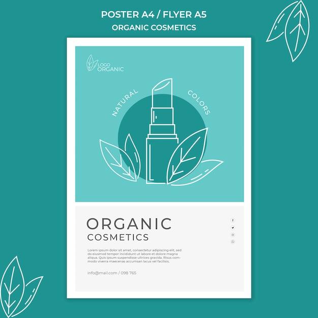 Biologische cosmetica folder sjabloon Gratis Psd