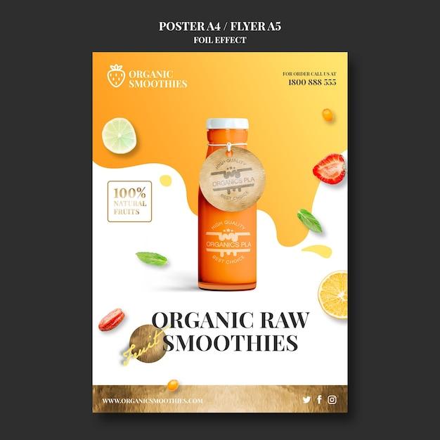 Biologische smoothies sjabloon flyer Gratis Psd