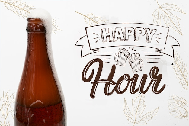 Birra artigianale disponibile all'happy hour Psd Gratuite