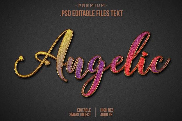 Birthday text effect psd, set elegante rosa viola rosso astratto bellissimo effetto testo, effetto testo modificabile in stile adorabile Psd Premium