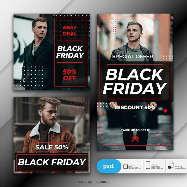 Black friday-bannermalplaatje Premium Psd