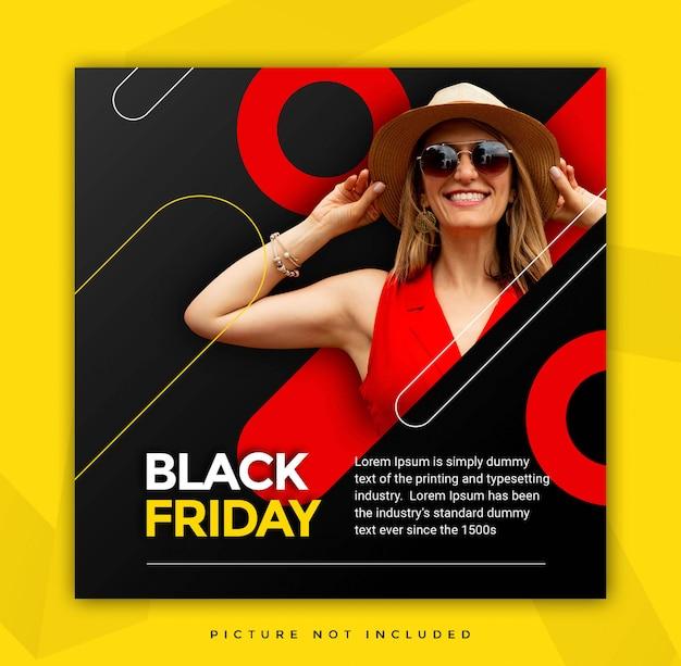 Black friday instagram story tempalte con icono de venta PSD Premium