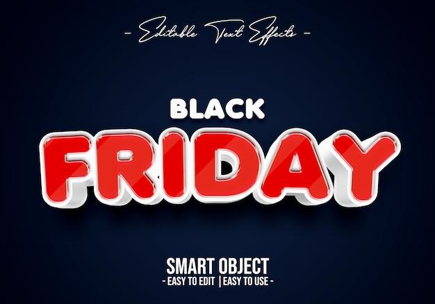 Black friday-tekststijleffect Premium Psd