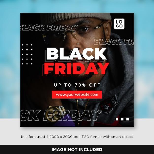 Black friday verkoop sociale media sjabloon voor spandoek Premium Psd