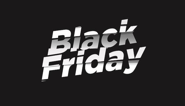 Black friday-verkoop teksteffect ontwerpsjabloon Premium Psd