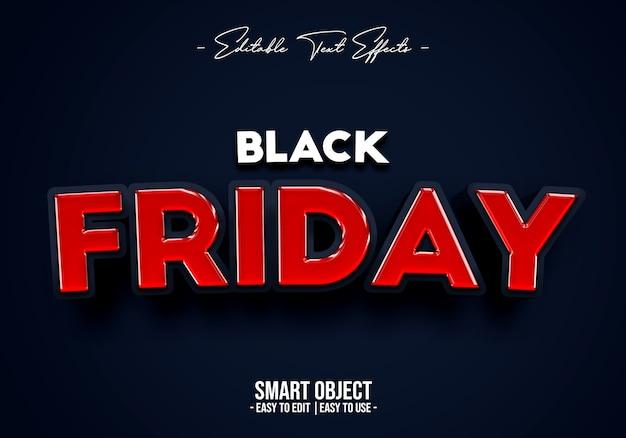 Black friday-verkoop tekststijleffect Premium Psd