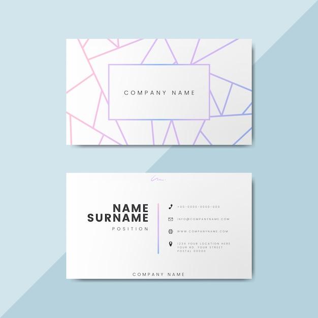 Blanco visitekaartje ontwerp mockup Gratis Psd
