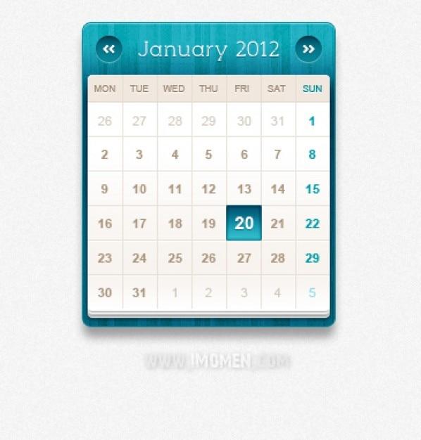 Blauw kalender psd materiaal Gratis Psd