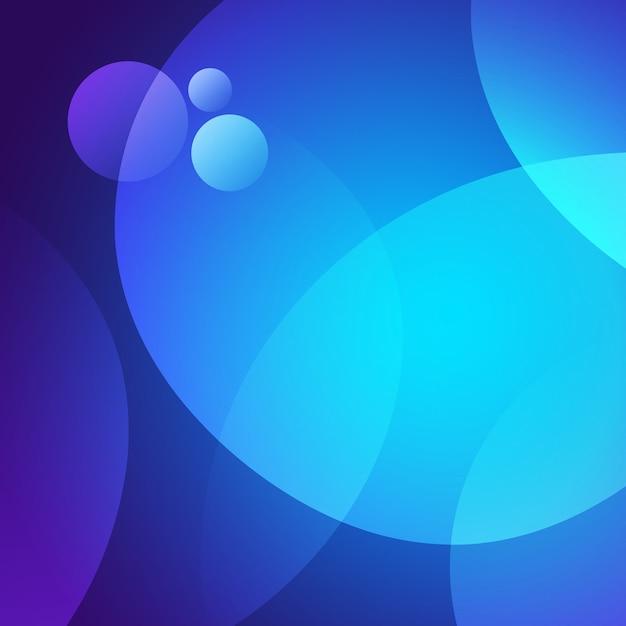 Blauwe cirkels achtergrond Gratis Psd