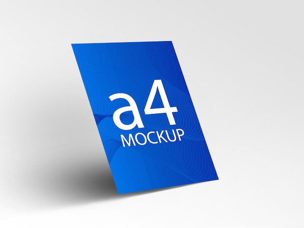 Blauwe flyer mockup Premium Psd