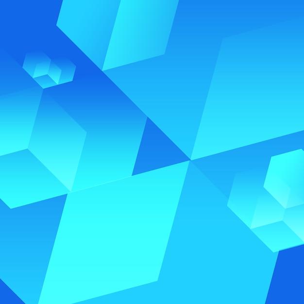 Blauwe kubus achtergrond Premium Psd
