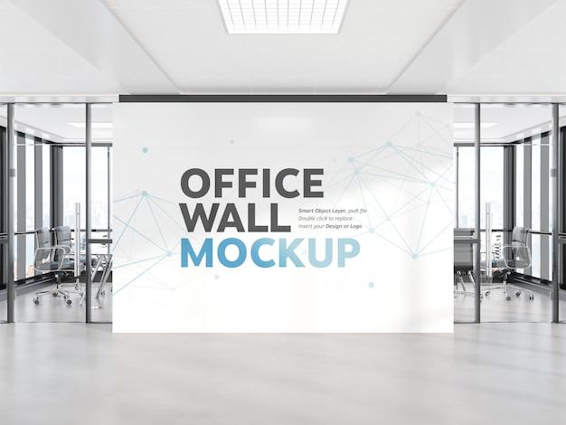 Blinde muur in helder concreet bureaumodel Premium Psd