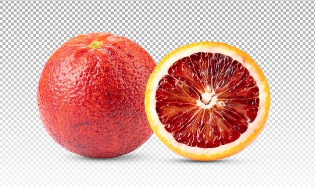 Bloed oranje fruit geïsoleerd Premium Psd
