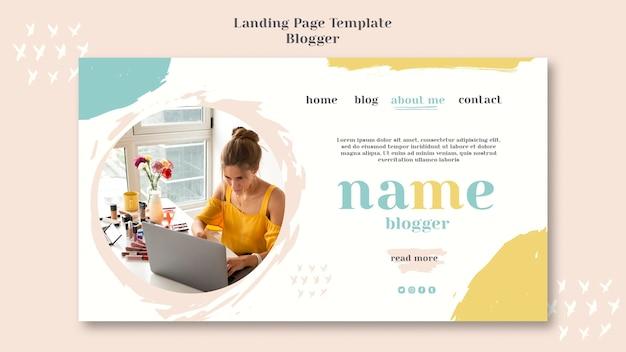Blogger concept bestemmingspagina ontwerp Gratis Psd
