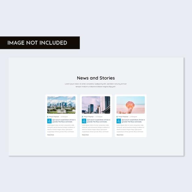 Blogsectie web ui kit Premium Psd
