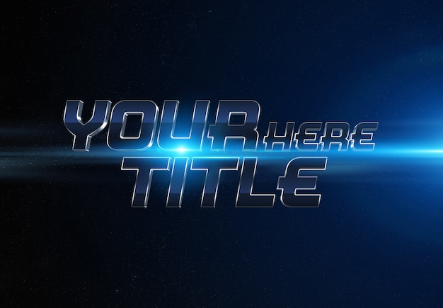 Blue movie trailer text effect Psd Premium