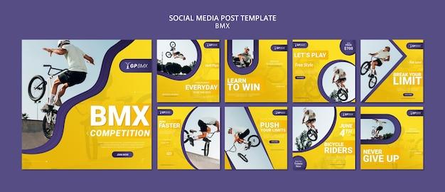 Bmx concept sociale media post sjabloon Gratis Psd