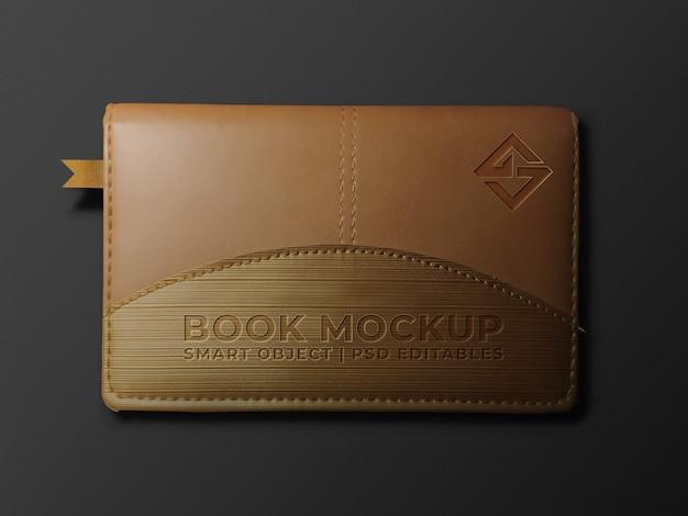 Boek logo mockup Premium Psd