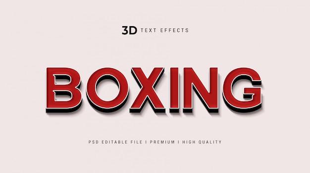 Boksen 3d tekststijleffect mockup Premium Psd