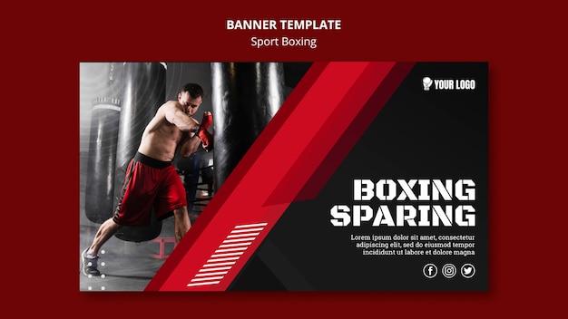 Boksen zuinige banner websjabloon Premium Psd