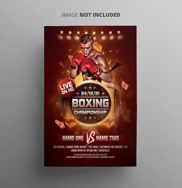 Bokskampioenschap flyer Premium Psd