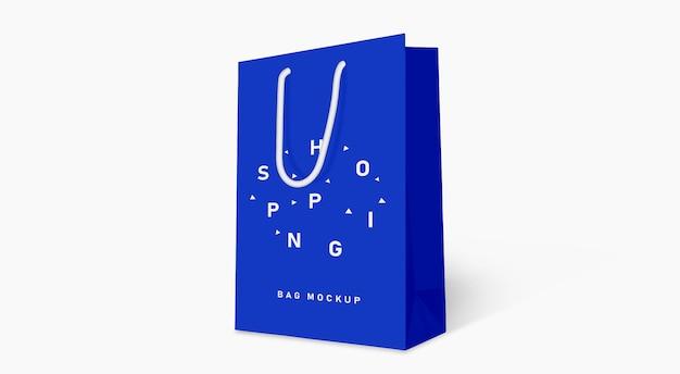 Boodschappentas mockup blue Premium Psd
