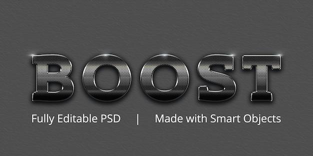 Boost tekststijleffect Premium Psd