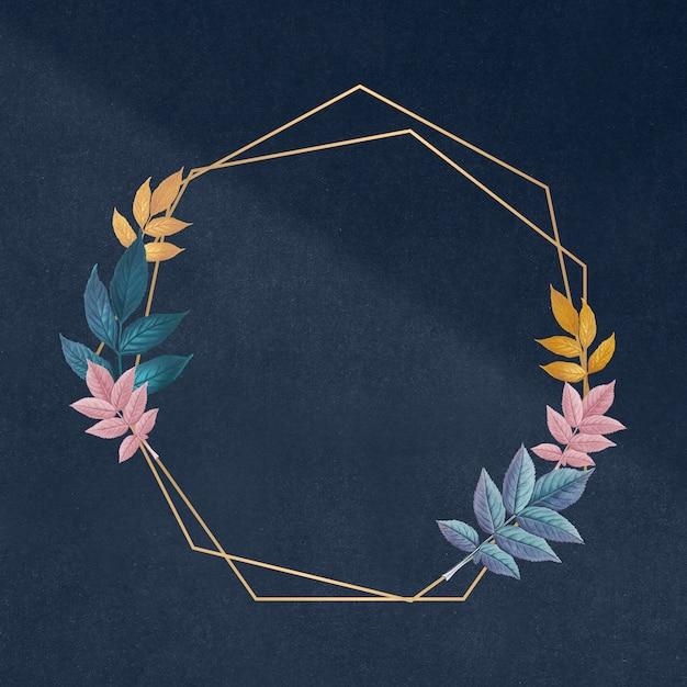 Botanisch gouden frame Gratis Psd