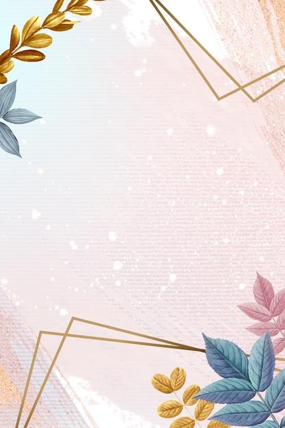 Botanische ingelijste kaart Gratis Psd