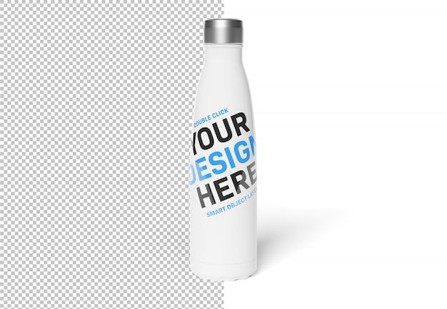 Botella deportiva cortada aislada en maqueta blanca PSD Premium