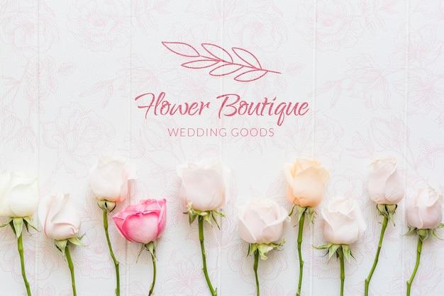 Boutique di fiori con rose Psd Gratuite
